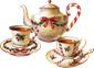 christmas tea cups