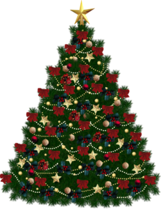 christmas tree with red bows from pngimg.com
