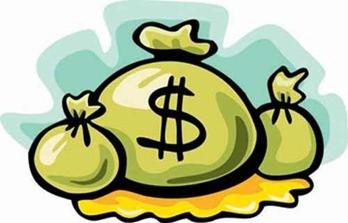 cartoon money bags