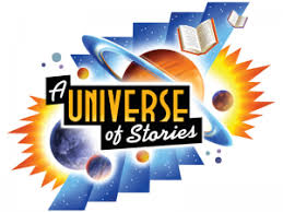 logo for summer reading program a universe of stories