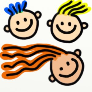 child face painted cartoon clip art
