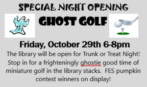Ghost Golf at the Library